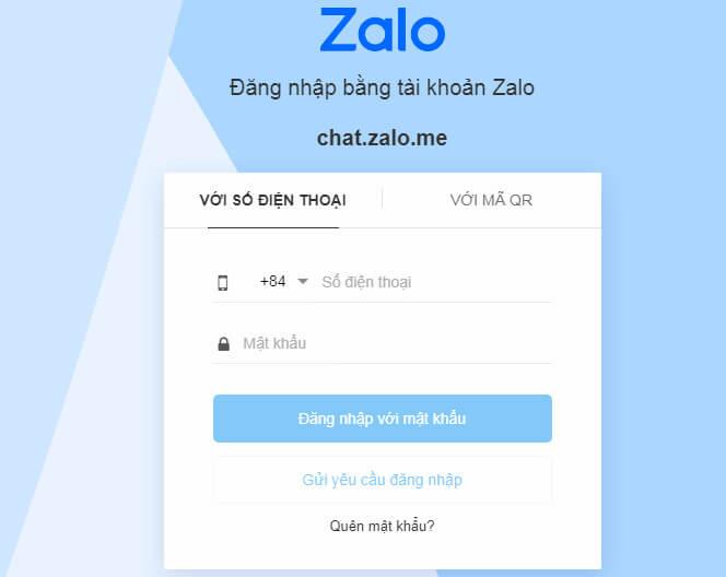 Đăng nhập Zalo bằng mật khẩu - Không cần QR code