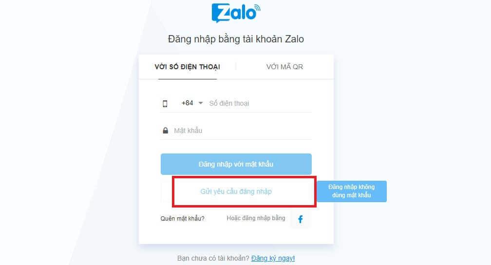 Cách đăng nhập Zalo không sử dụng mật khẩu