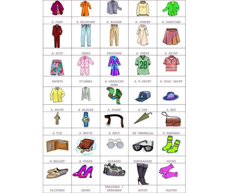 Tổng hợp các từ vựng về quần áo – thời trang tiếng Anh phổ biến nhất