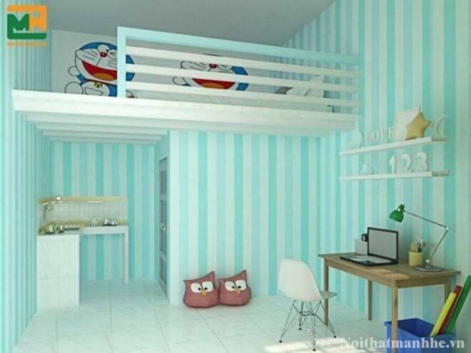 Một số mẫu phòng trọ cho sinh viên được thiết kế tinh tế