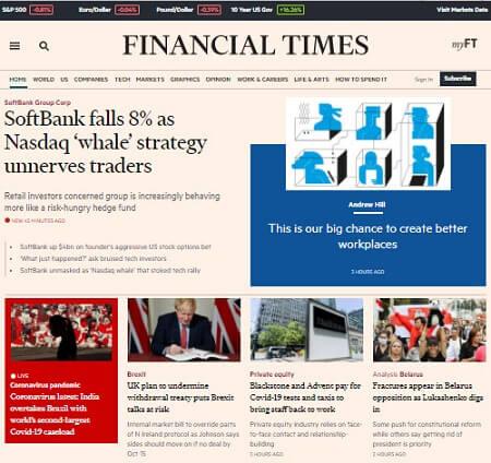 Xem thời sự quốc tế mới nhất trong ngày tại Financial Times
